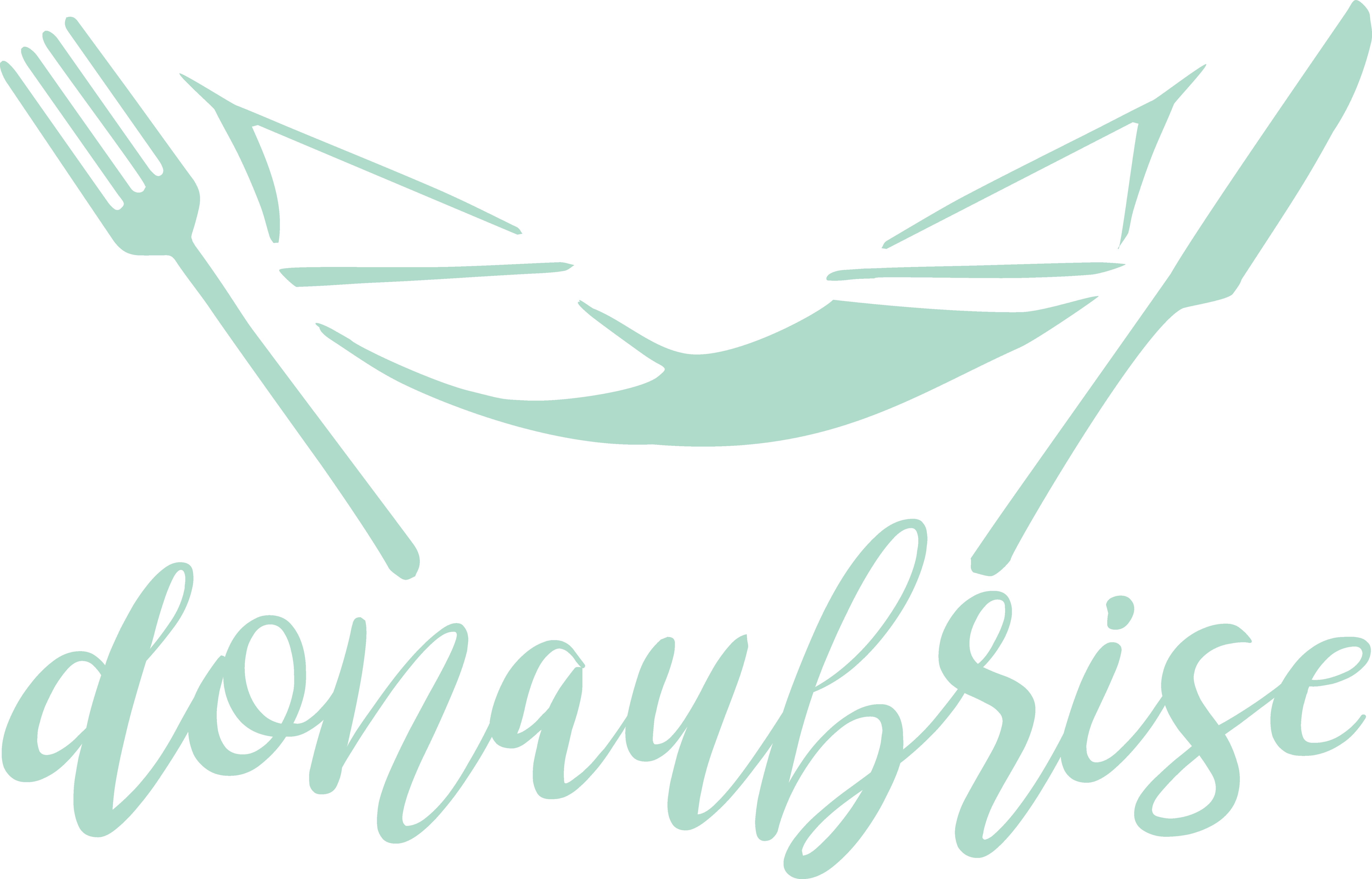 Donaubrise_logo_brushgya_kursiv_Strandbad Josefine_dunkleresgrün_600